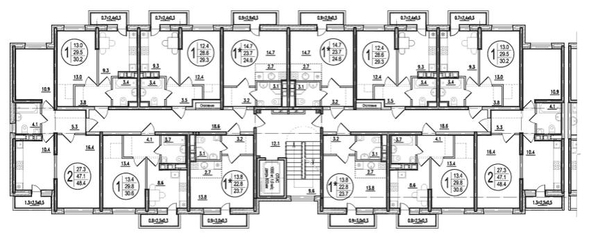 Типовой этаж 1